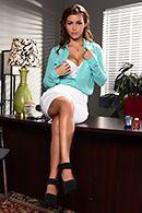 Порно милой секретарши со своим боссом #1