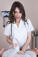 Смотреть трах в пизду от первого лица с милой брюнеткой медсестрой #1