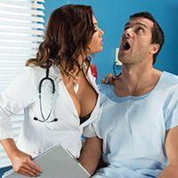 Анальный секс с пышногрудой медсестрой нимфоманкой