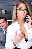 Трах в пизду секретарши с большими сиськами #1