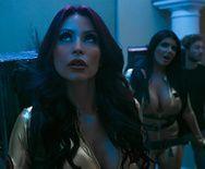 Смотреть групповое межрассовое порно с пышными красивыми девками и двумя мужиками - 1